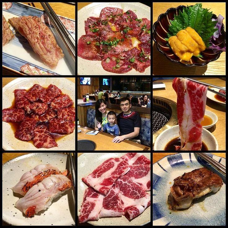 My lil family dinner..... #family #familytime #happiness #weekend #holiday #sushimasa #shabumasa #yakiniku #sushi #ootoro #wagyu #kobebeef #beef #kimidai #seaurchin #uni #sashimi #aburi by bobztagram