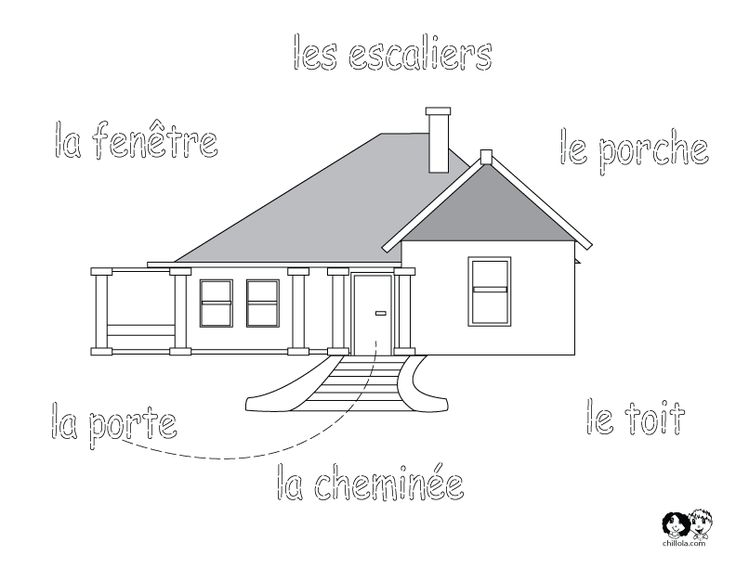 french printable worksheet house