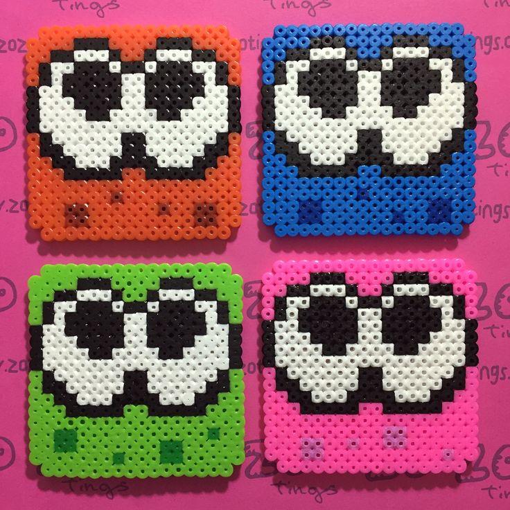 Splatoon coaster set hama beads by Zo Zo Tings