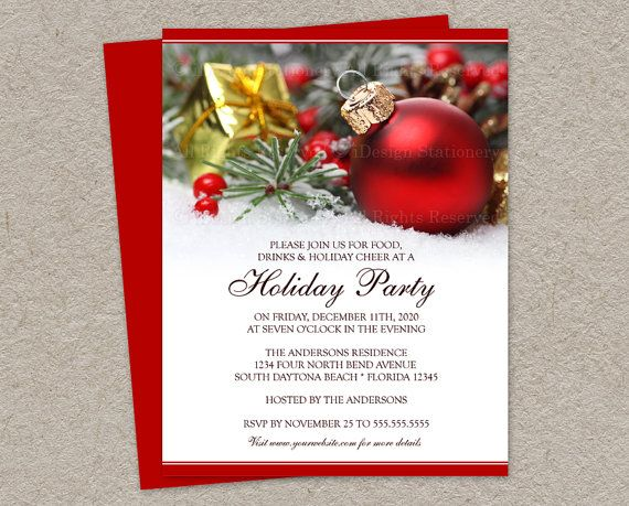 Printable christmas wedding invitations