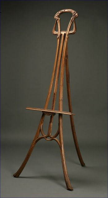 Art Nouveau Easel.  The artworks that sit upon it  would have some way to go to   Match this beauty