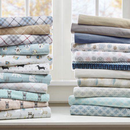 Comfort Classics Cozy Flannel Cotton Sheet Set, Multicolor