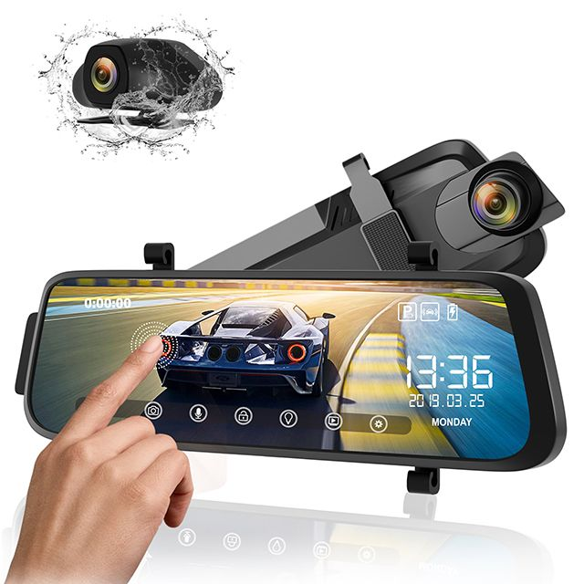 New Durable 10inch FHD 1080P Car DVR Dash Camera Cam Real-Time Display