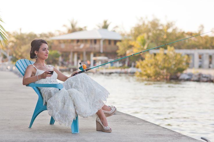 The Fishing Bride! Florida Keys Weddings / beach weddings / Micha Vandiver Photography