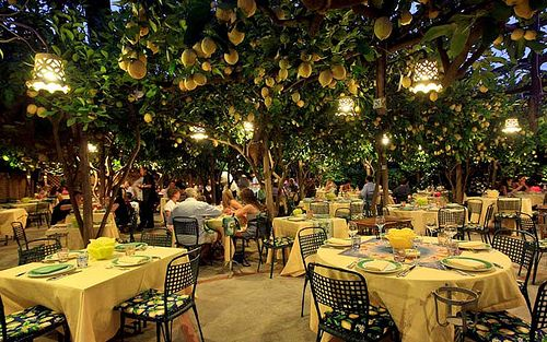 Restaurant da Paolino Lemon Trees, Isle of Capri, Italy. Want to eat here someday!