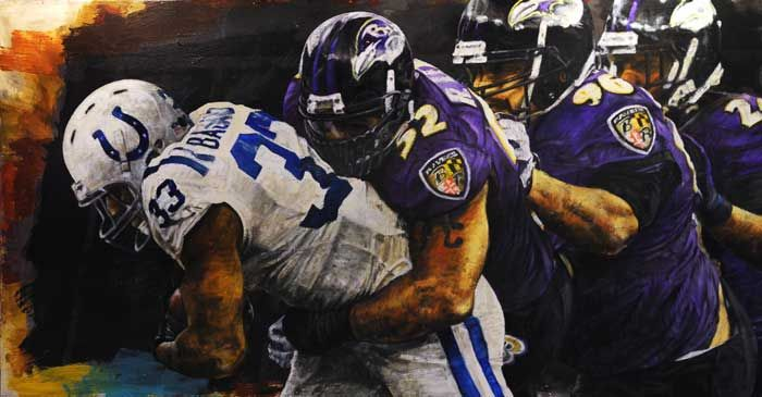 Baltimore Ravens introduced to their artist STephen Holland