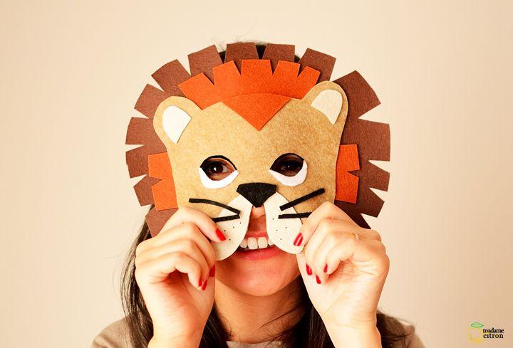DIY : Un masque de lion pour carnaval / déguisement enfant