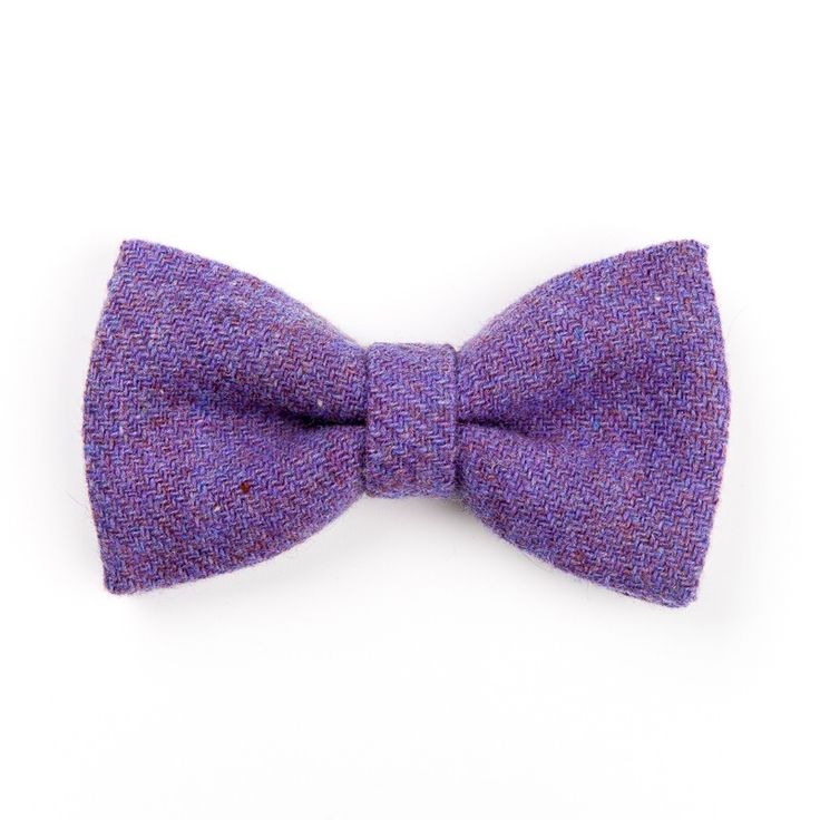 """Sprinkled Lavender"" #handmade #Donegal #tweed #bowtie. FREE Worldwide Shipping!"
