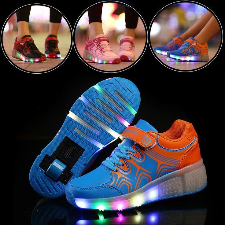 Весна/лето карнавал колесо коньки А36 невидимые кнопки взрослых два колеса Heelys мальчика обувь для мужчин и женщин спорта синий оранжевый