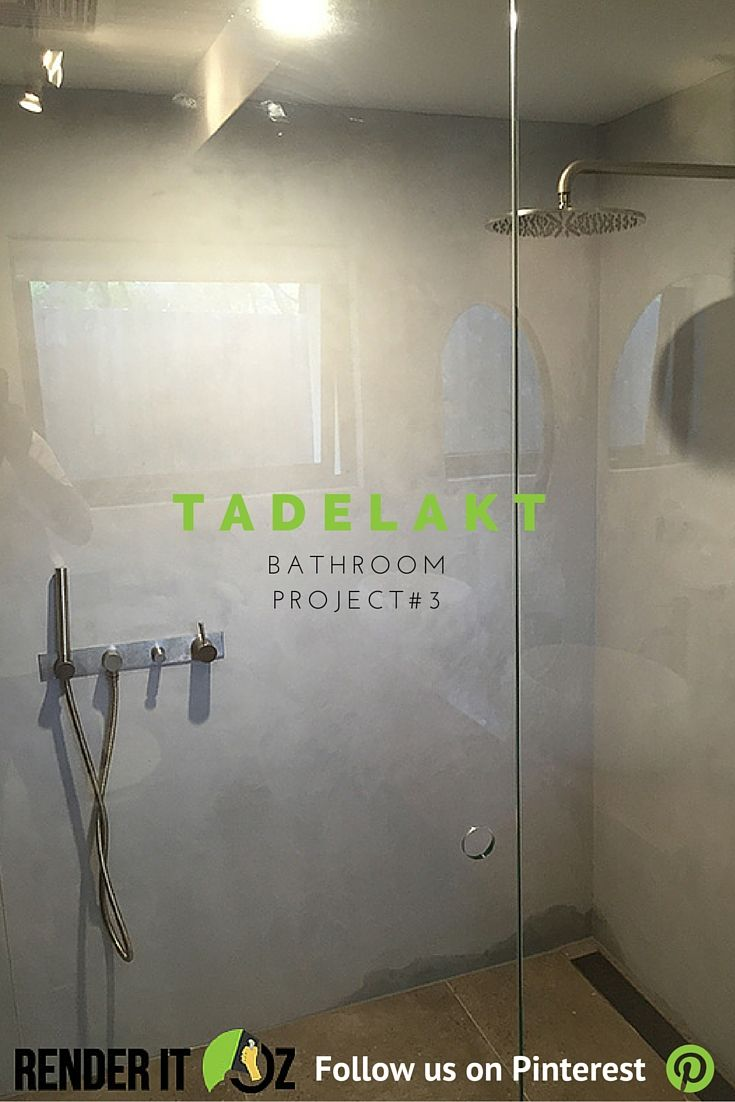 concrete look tadelakt bathroom project melbourne australia renderitoz