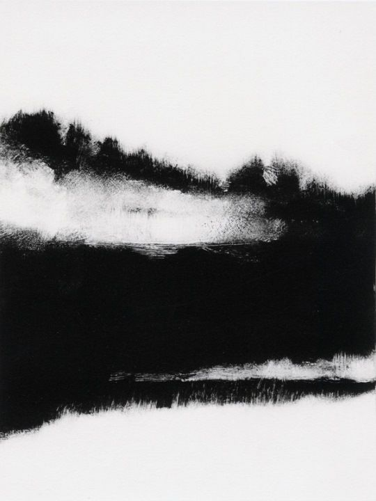 Tekla McInerney's monotypes are striking prints that are beautifully composed with a wonderful balance of high contrast, form and tone