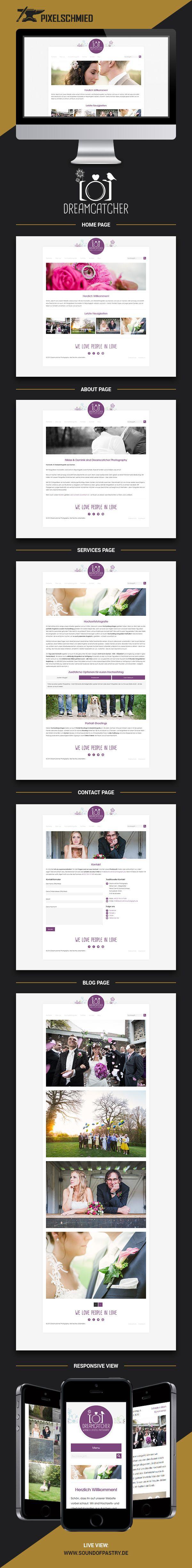 Web design & development for Dreamcatcher - Wedding & lifestyle photography from Aachen, Germany. 2014 #pixelschmied #webdesign #websitedesign #webdevelopment #website #wordpress #html5 #css3 #responsive #weddingphotography #weddingphotographer #dreamcatcher #aachen #designagency #designstudio