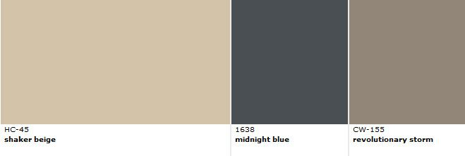 Color Combo for Shaker Beige wall color