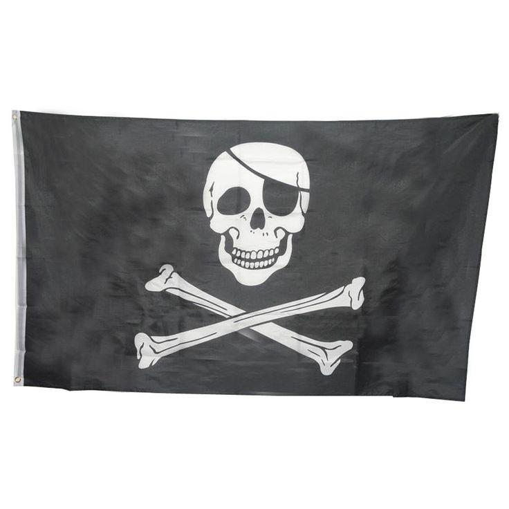Огромный 3x5FT Череп Скрещенные Кости Пиратские Флаги Прокладки Украшения U6802 купить на AliExpress