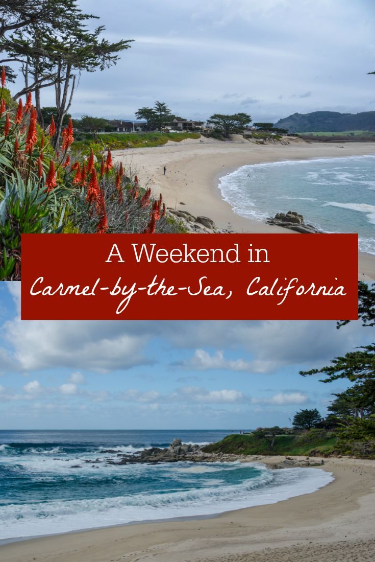 A weekend getaway to Carmel-by-the-Sea, California a lovely community on the Monterey Bay. Includes beautiful and dog-friendly beaches, some of the best Carmel things to do, where to eat, and where to stay.