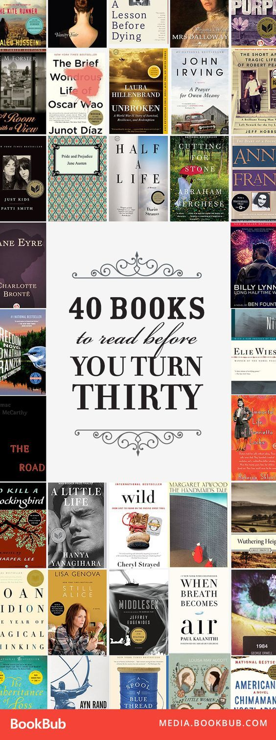 40 Books To Read Before You Turn 30