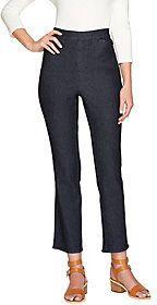 Liz Claiborne New York Petite Hepburn Pull-on Slim Leg Jeans