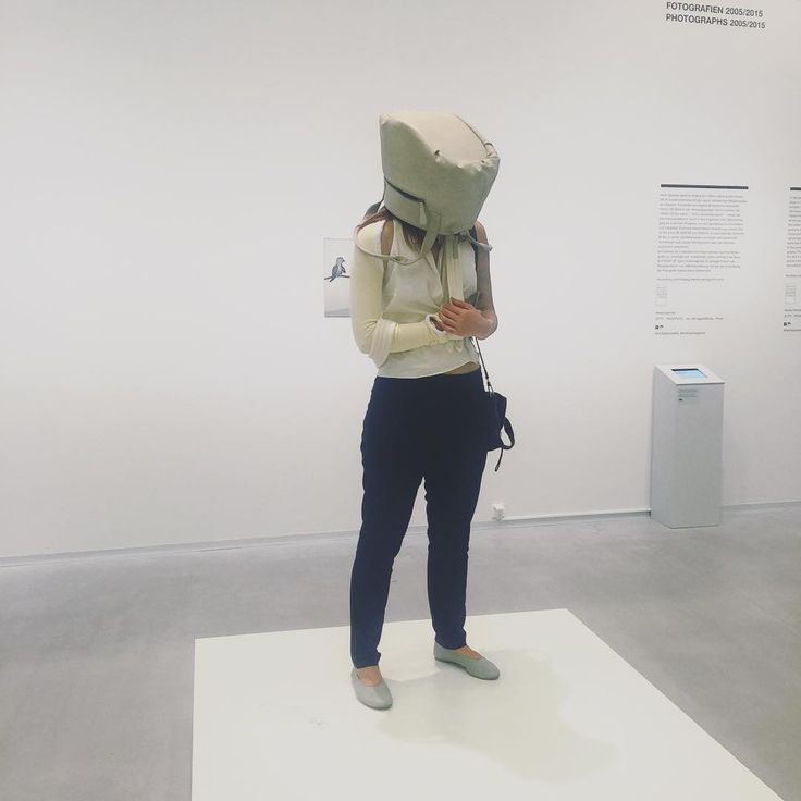 """5.11.16 - from the time I broke my clavicle whilst biking in Hamburg. Photograph taken at the Berlinische Galerie as I participate in Erwin Wurm's """"one minute sculptures."""" #studyabroad #Berlin #Hamburg2k16"""