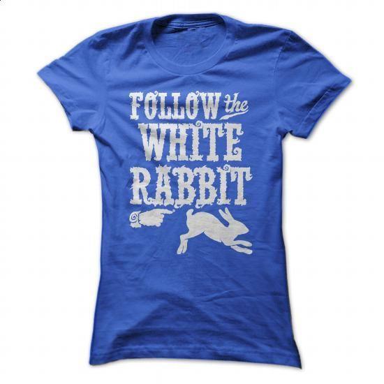 Follow The White Rabbit Alice in Wonderland T Shirt - #funny t shirt #t shirt…