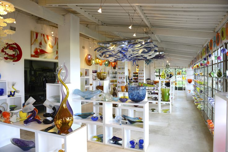 Our gallery and glassblowing studio in Paarl, South Africa.