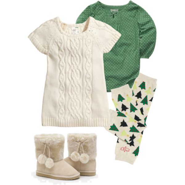 """Baby Girl Holiday Outfit (Green)"" by soundtrak7 on Polyvore"