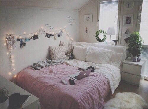 bedroom, black, boho, chanel, comfy, cozy, cute, floral, ikea, imac, lights, magenta, pillows, pink, plants, purple, room, small, tribal, tumblr, vogue, white, iphone 6, throw pillows