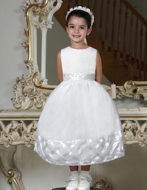 Duchess Satin Flower Girl Dress
