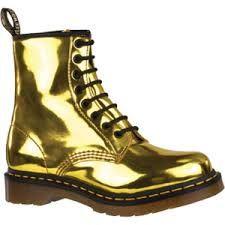 Image result for gold doc martens