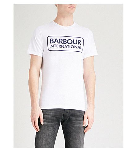 BARBOUR Essential cotton-jersey T-shirt. #barbour #cloth #
