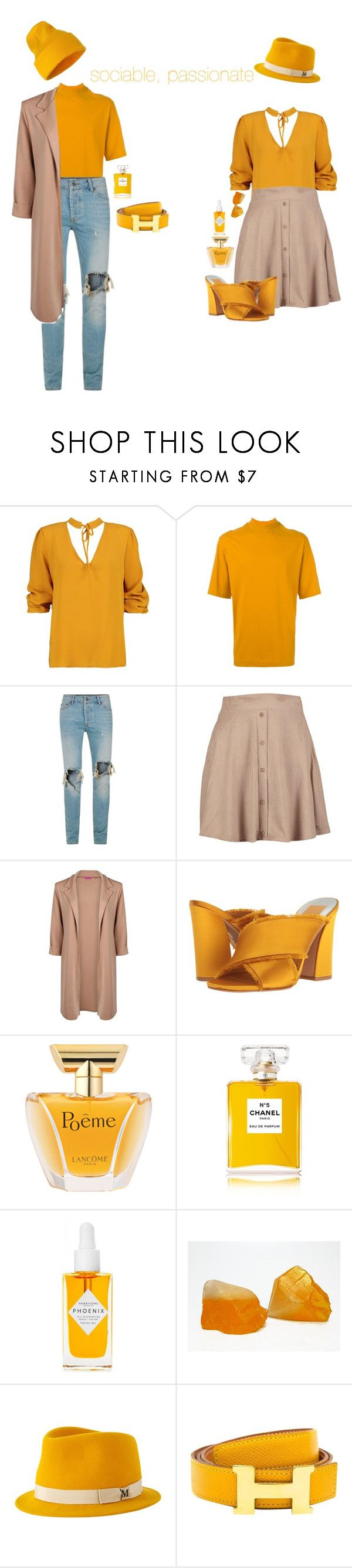 """gemini"" by sweeeetcaroline ❤ liked on Polyvore featuring Boohoo, Topman, Dolce Vita, Lancôme, Chanel, Herbivore, Maison Michel and Hermès"