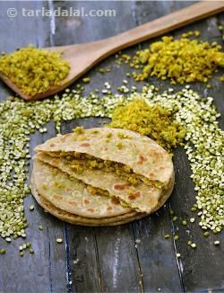 Moong dal is used extensively in Rajasthani cooking from starters likes chilas and vadas, to desserts like moong dal halwa etc. Jodhpuris prefer the use of moong dal to urad dal particularly as it is easier to digest. Dal ke Parathes complement virtually with any Rajasthani subji.