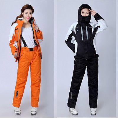 Hot Women's Winter Thick Hiking Jacket Waterproof Ski Snow Coat Suit Clothing