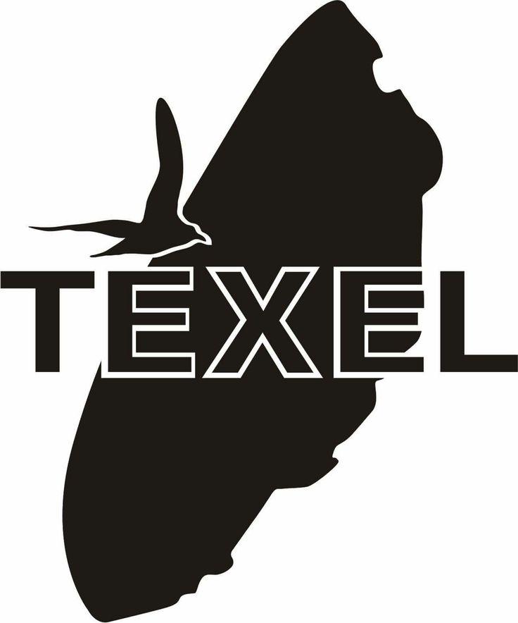 Nieuw ontwerp voor sticker van #Texel door Cees van Beek, te koop bij boetiek de Oorzaak in Den Burg #Texel