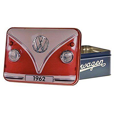 Volkswagen Bus 1962 Vorratsdose - VW Bus 1962 Metall-Vorratsdose Brotdose Bulli Lunchbox - flach