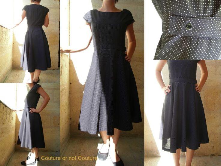 Photo patron gratuit robe vintage année 50