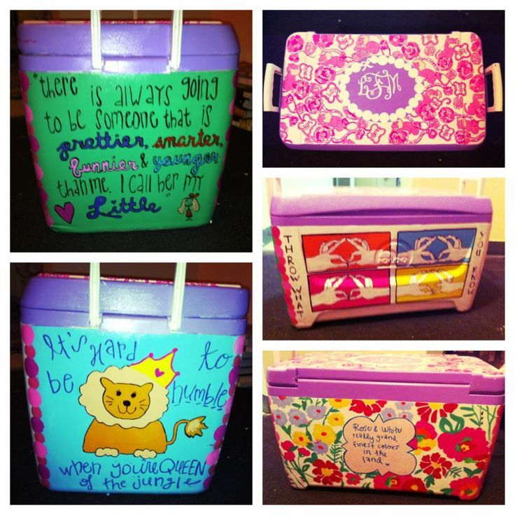 Sorority painted cooler. Lily Pulitzer print. Throw what you know up. #thecoolerconnection