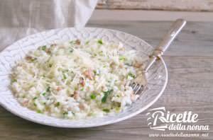 Risotto alla salsiccia, spinaci e Asiago