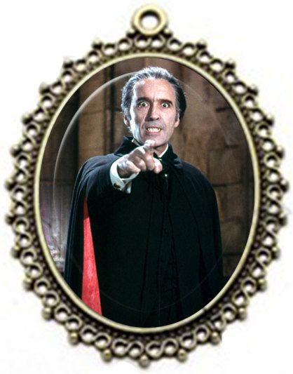 CHRISTOPER LEE Classic DRACULA Pendant Necklace