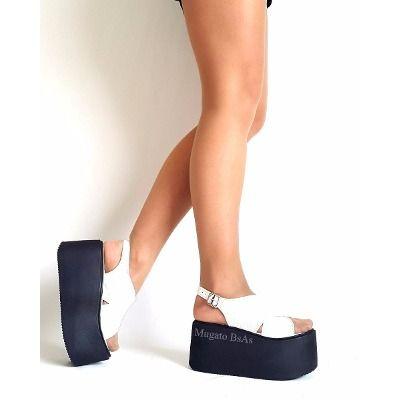 Zapatos Sandalias Con Flecos Plataforma Moda Verano 2017 , $ 849,00 en Mercado Libre