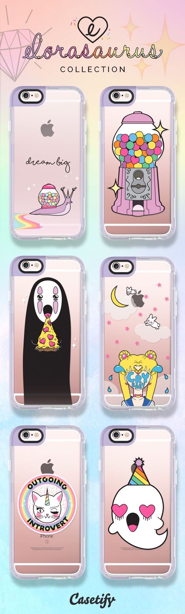 Check out these cute iPhone 6 Case designs by @elorasaurus here >>> https://www.casetify.com/elorasaurus/collection   @casetify