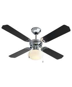 56 best supermarket home office gear images on pinterest chrome living black and chrome ceiling fan aloadofball Gallery