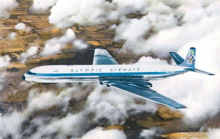 Olympic Airways Card postal De Havilland DH-106 Comet 4B