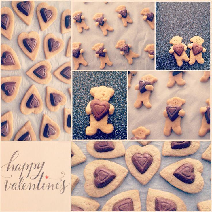 Valentines sugar cookies <3