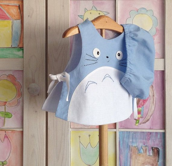 Totoro Baby Piece Set Blue Outift Studio