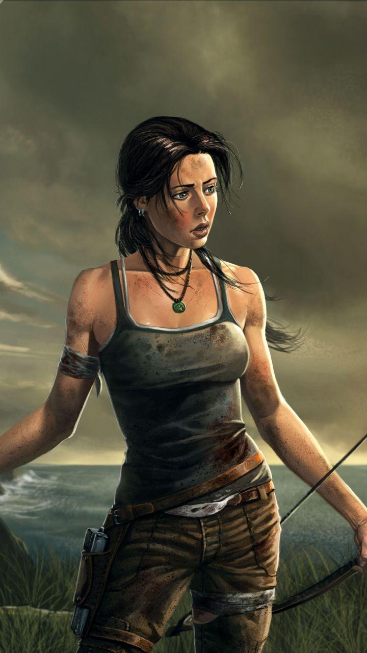Lara Croft Tomb Raider Video Game Artwork 720x1280