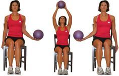 Do this Seated Upper Body Workout from Your Chair: Medicine Ball Exchange