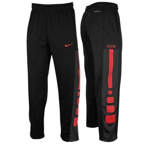NIKE Nike Elite Stripe Performance Fleece Basketball Pants Mens. #nike #cloth #