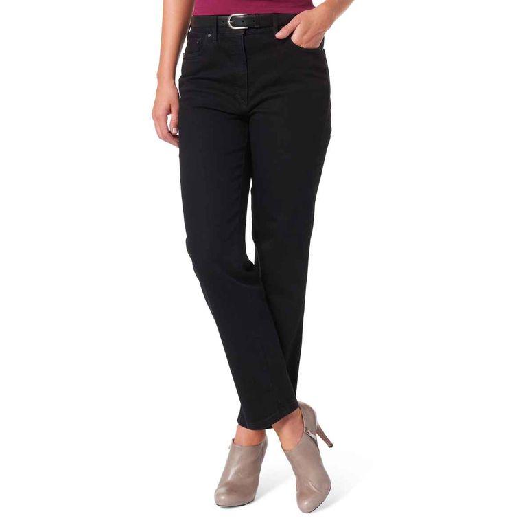 """ZERRES Jeans """"Greta"""", elastische Einsätze, gerader Schnitt, hoher Tragekomfort schwarz 09"""
