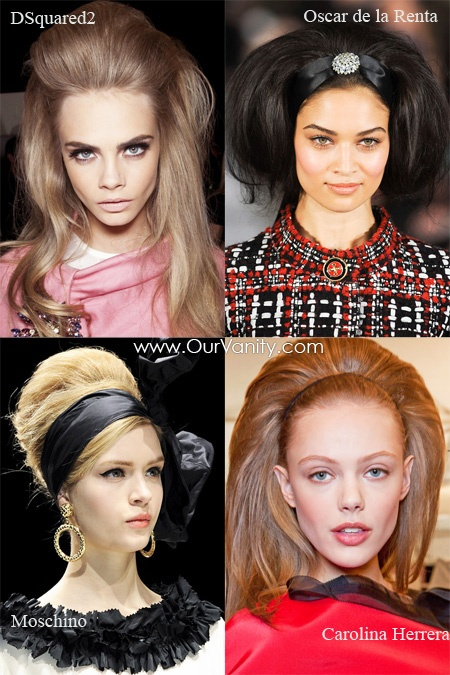 Retro Boufants~2012 hair & makeup trends here!