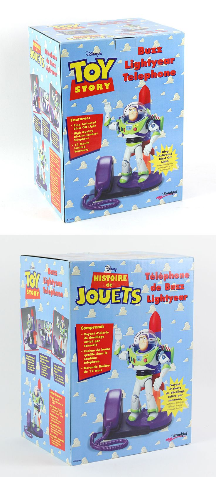Toy story of terror 1 2 3 buzz lightyear of star command for sale - Toy Story 19223 New Nip Original Packaging 1995 Disney Pixar Toy Story Buzz Lightyear Telephone